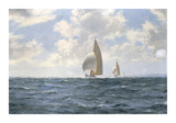 'Jet' in the Silver Sea Premium Giclee Print by Montague Dawson