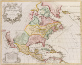 Amerique Septentrionale, 1792 Premium Giclee Print by Jan Baptist Elwe