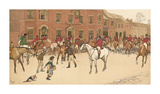 The Cottesbrook Hunt (The Meet at the Swan) Premium Giclee Print by Cecil Aldin