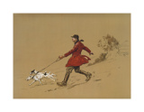 The Terrier Man Premium Giclee Print by Lionel Edwards