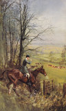 His Grace The Duke Of Beaufort Premium Giclee Print by Lionel Edwards