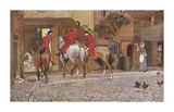 Three Jolly Huntsmen Premium Giclee Print by Cecil Aldin