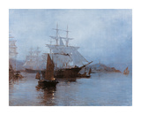 Pagoda Anchorage Premium Giclee Print by Montague Dawson