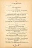 Carte Du Jour - Octobre Et Novembre Premium Giclee Print by August Escoffier