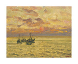 Golden Sunset Premium Giclee Print by Valeriy Chuikov