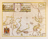 A Map of the North Pole and the Parts Adjoining, 1680 Premium Giclee Print by Moses Pitt