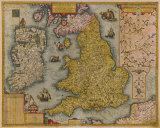 Angliae et Hiberniae, 1605 Premium Giclee Print by Johann Baptist Vrients