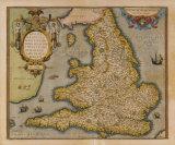Angliae Regni Florentissimi Nova Descriptio, 1573 Premium Giclee Print by  Ortelius Lhuyd