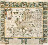 L'Europe Historique et Le Theatre des Actions Heroiques de Louis Le Grand, 1775 Premium Giclee Print by Jean Baptiste Nolin