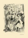 Au Jardin De Paris Premium Giclee Print