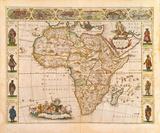 Nova Africa Descriptio, 1670 Premium Giclee Print by Frederik De Wit