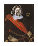 The Old Warrior Premium Giclee Print by Thierry Poncelet