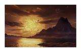 Gliese 581c Premium Giclee Print by David A Hardy