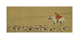In the Wake of his Darlings Premium Giclee Print by Cecil Aldin