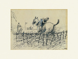 The Remount Premium Giclee Print by  Snaffles