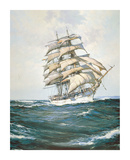 The White Clipper Premium Giclee Print by Montague Dawson