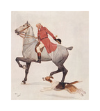 The Huntsman Premium Giclee Print by Cecil Aldin