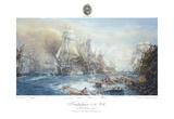 Battle of Trafalgar at 2.30pm Giclee-tryk i høj kvalitet af William Lionel Wyllie