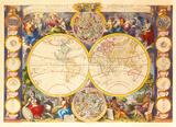 Nouvelle Mappe-Monde, c1750 Premium Giclee Print by Gaspar Bailleul