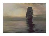 Twilight Shadows Premium Giclee Print by Montague Dawson