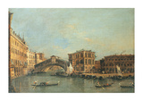 The Rialto Bridge Premium Giclee Print by Antonio Canaletto