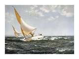 Neck and Neck Premium Giclee Print by Montague Dawson