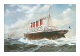 The &#39;Mauretania&#39; Premium Giclee Print by Montague Dawson