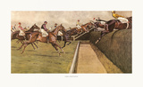 First Open Ditch Premium Giclee Print by Cecil Aldin