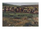 Exmoor Ponies Premium Giclee Print by Sir Alfred Munnings