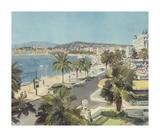 Le Promenade, Nice Premium Giclee Print by Gabriel Deschamps