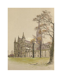 Salisbury Cathedral Premium Giclee Print by Cecil Aldin