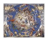 Hemisphae Alis Coeli Sphaeri Grarii Bore et Terre Casceno Phia, 1660 Premium Giclee Print by Hendrik Hondius