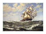 Wind In Her Sails Premium Giclee Print by Montague Dawson