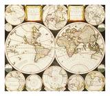 Planisphaerium Terrestre Sive Terrarum Orbis, 1696 Premium Giclee Print by  Alland