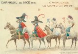 Carnaval De Nice, 1951 Premium Giclee Print by H Sauvigo