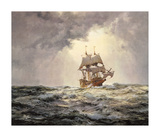 The Gallant 'Mayflower' Premium Giclee Print by Montague Dawson