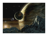 Exoplanet Premium Giclee Print by David A Hardy