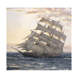 Morning Light Premium Giclee Print by Montague Dawson