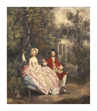 Conversation dans un Parc Premium Giclee Print by Thomas Gainsborough