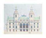 Monte Carlo Opera Premium Giclee Print by Andras Kaldor