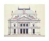 Janacek Opera House Brno Premium Giclee Print by Andras Kaldor