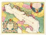 Le Golfe de Venise, 1696 Premium Giclee Print by Nicolas Sanson