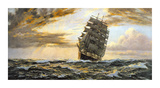 The Golden West - The 'Pamir' Premium Giclee Print by Montague Dawson
