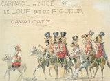 Carnaval De Nice (Le Loup), 1961 Premium Giclee Print by H Sauvigo