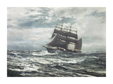 Silvery Night Premium Giclee Print by Montague Dawson