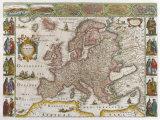 Nova Europae Descriptio, 1623 Premium Giclee Print by  Jodocus