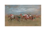 The Start Newmarket Premium Giclee Print by Lionel Edwards
