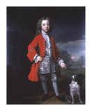 Portrait of a Boy And Spaniel Premium Giclee Print by Charles D'agat