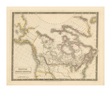 British North America, 1829 Premium Giclee Print by Sidney Hall