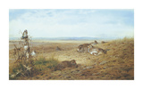 Partridges and Goldfinch Premium Giclee Print by Archibald Thorburn